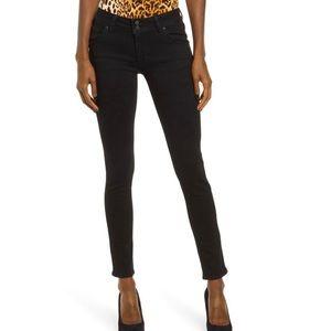 Hudson ankle Nicole skinny black jeans size 28